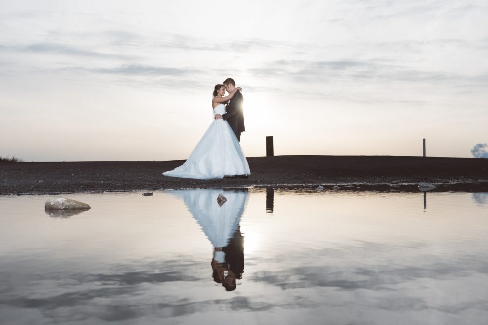 Hochzeit in Essen mit einem Fotoshootings auf der Schurenbachhalde
